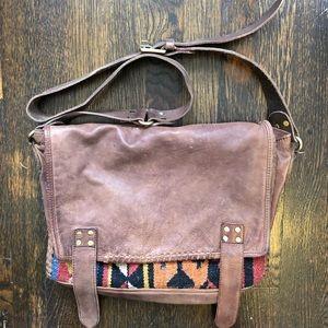 FP leather messenger bag